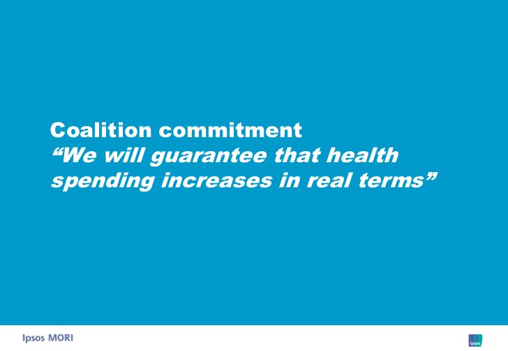 """Coalition commitment """"We will guarantee that health spending increases in real terms"""""""