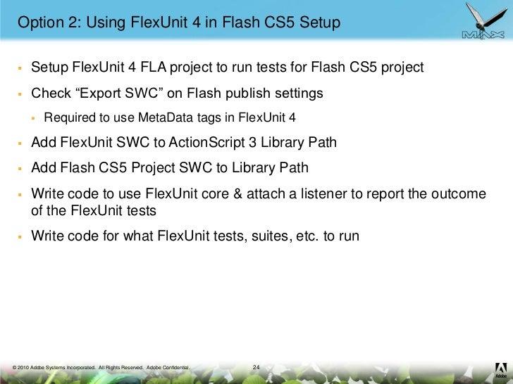 how to use flash cs5