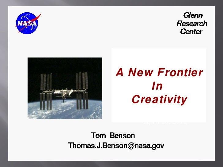 A New Frontier     In  Creativity    April 20, 2012