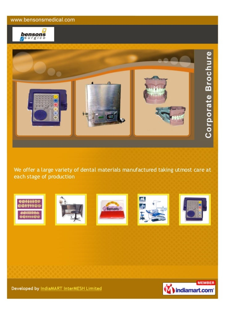 We offer a large variety of dental materials manufactured taking utmost care ateach stage of production