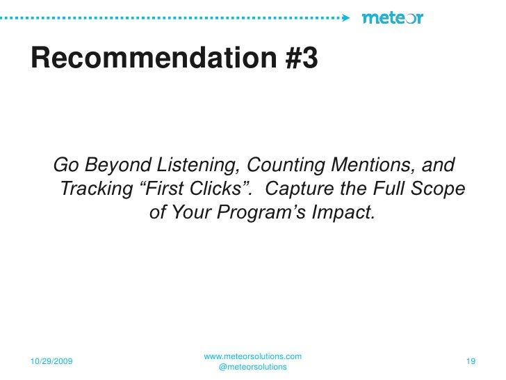 Measuring Social Media ROI - Meteor Solutions Webinar