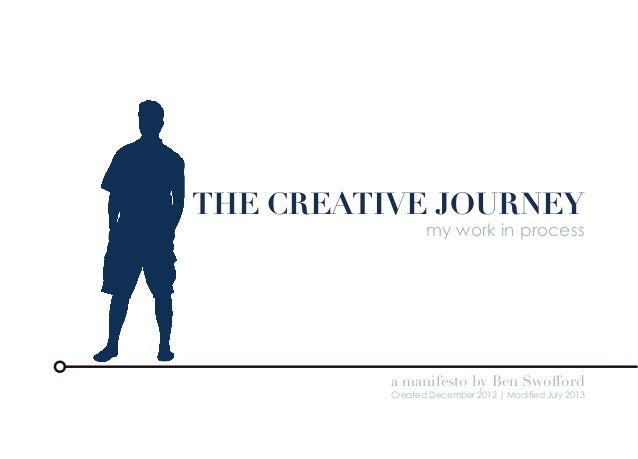 THE CREATIVE JOURNEY my work in process a manifesto by Ben Swofford Created December 2012 | Modified July 2013
