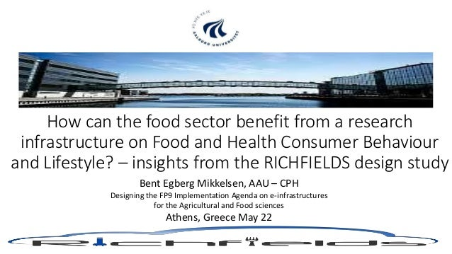 How can the food sector benefit from a research infrastructure on Food and Health Consumer Behaviour and Lifestyle? – insi...