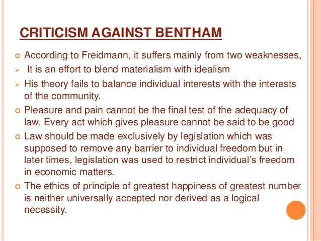 benthams act utilitarianism Death of one for pleasure of others problem may be solved by use of rule rather than act utilitarianism however, act utilitarians have arguments against rule utilitarians however, act utilitarians have arguments against rule utilitarians.