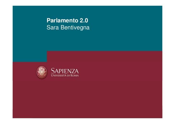 Parlamento 2.0Sara Bentivegna
