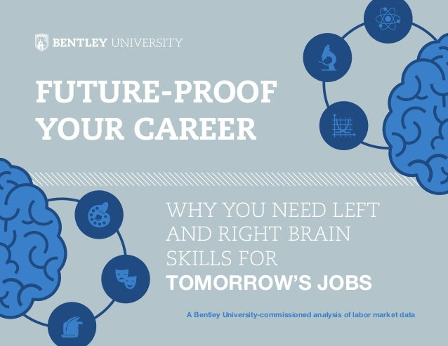 Future-Proof Your Career WHY YOU NEED LEFT AND RIGHT BRAIN SKILLS FOR TOMORROW'S JOBS A Bentley University-commissioned an...