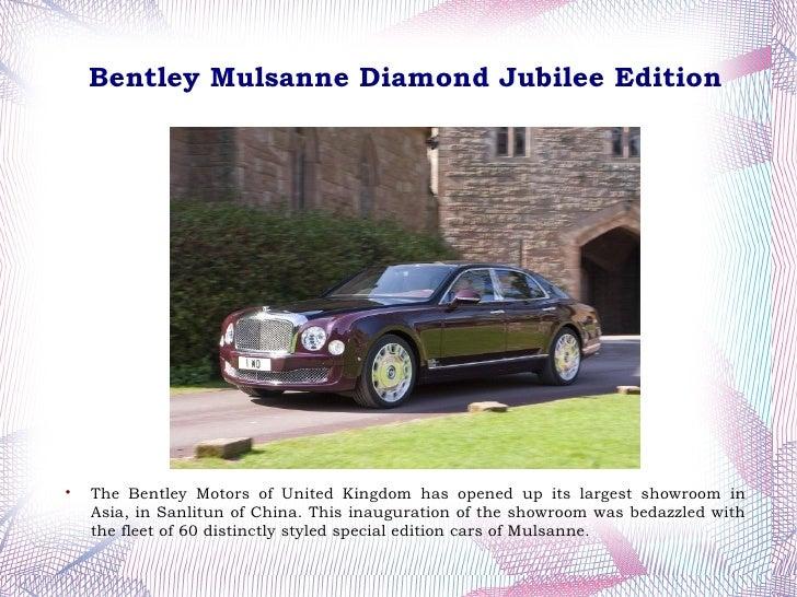 Bentley Mulsanne Diamond Jubilee Edition Revealed