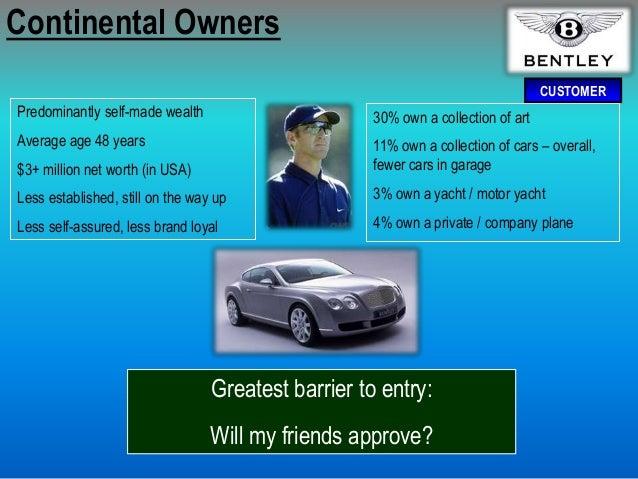 Bentley marketing presentation for Bentley motors net worth