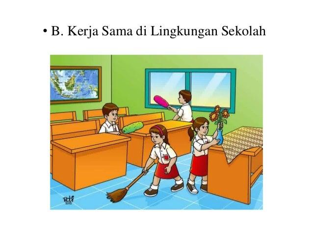 Gambar Kerjasama Di Sekolah Kartun Terbaru 22 Gambar Kerjasama Di Rumah