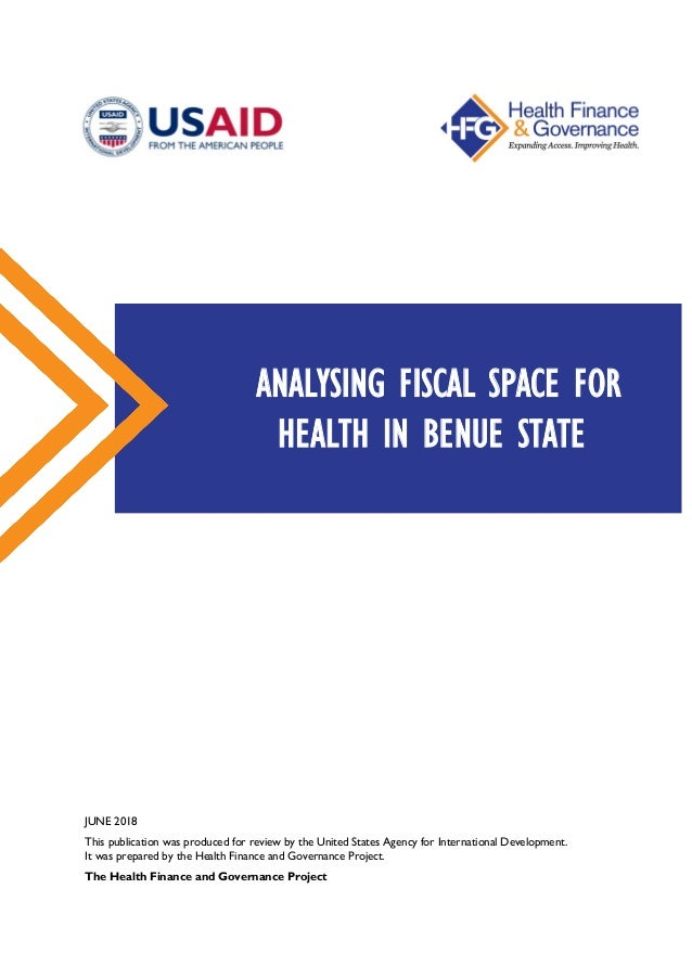 ANALYZING FISCAL SPACE FOR HEALTH IN BENUE STATE, NIGERIA