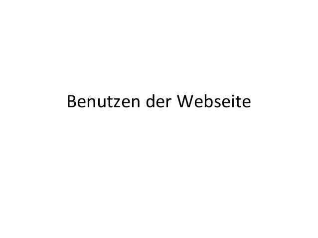 Benutzen der Webseite