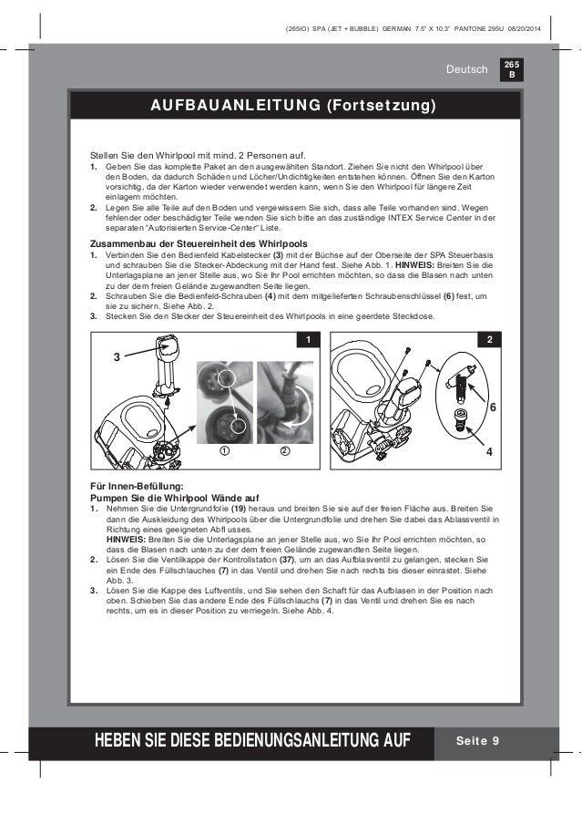 Benutzerhandbuch whirlpool 28444 intex pool shop for Obi aufblasbarer whirlpool