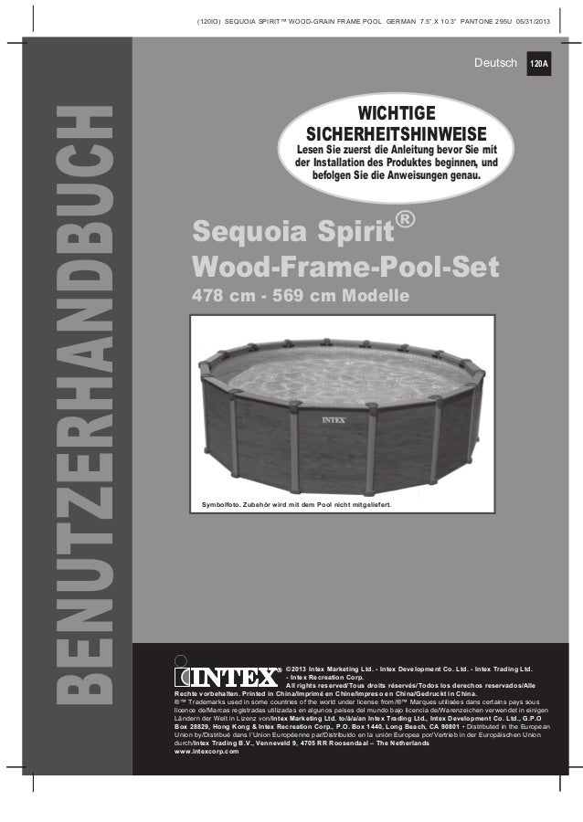 Benutzerhandbuch wood grain frame pool intex pool shop for Intex sequoia