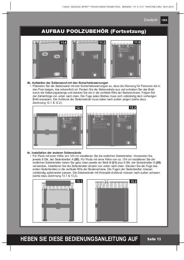 benutzerhandbuch wood grain frame pool intex pool shop. Black Bedroom Furniture Sets. Home Design Ideas