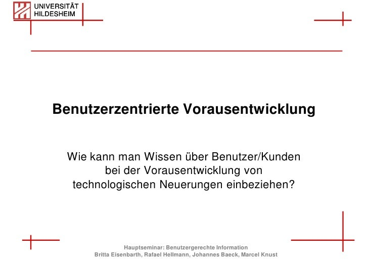 UNIVERSITÄT HILDESHEIM                                                                       [Titel]         Benutzerzentr...