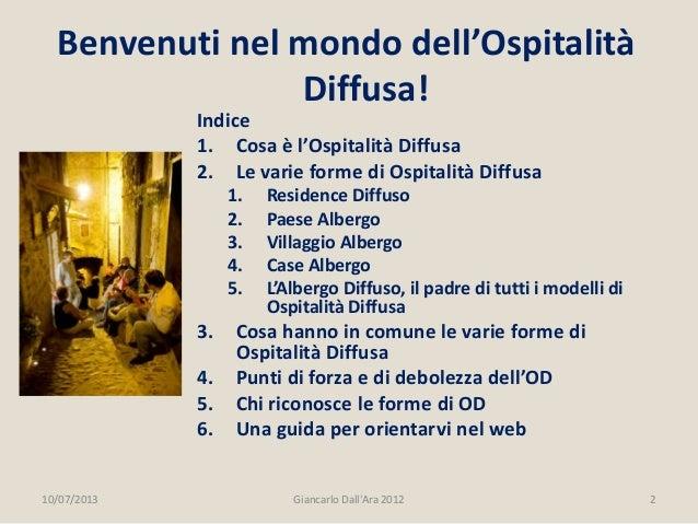 Ospitalità Diffusa Slide 2