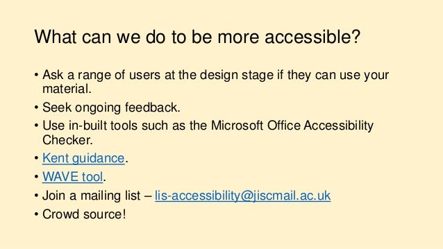 Infofest Kent 2017  Accessibility Is Good For You  Ben Watson