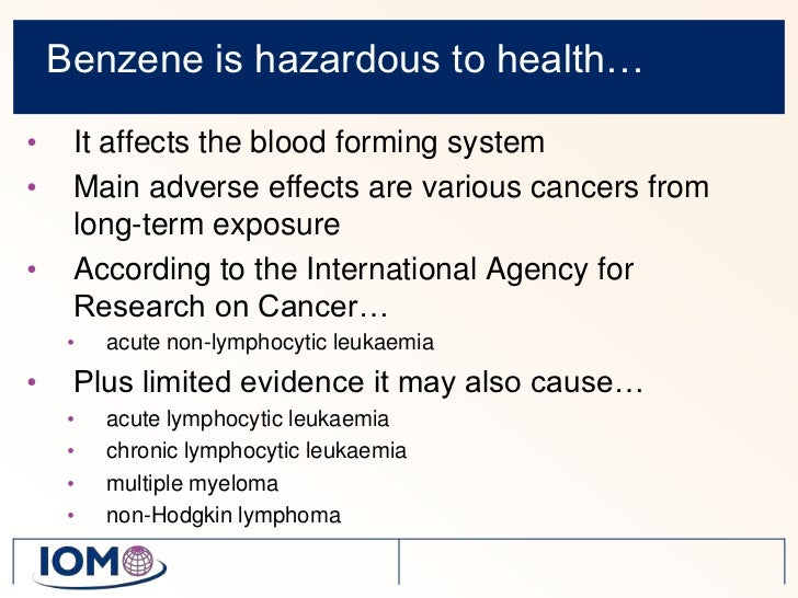 Benzene Monitoring Managing And Reducing The Risk