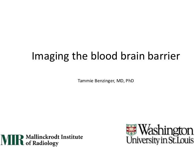Tammie Benzinger, MD, PhD Imaging the blood brain barrier