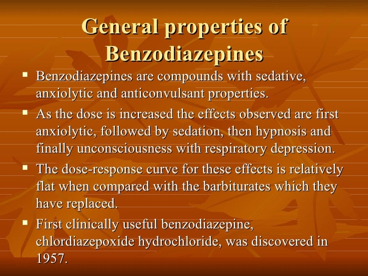 Benzodiazipines   Slide 2