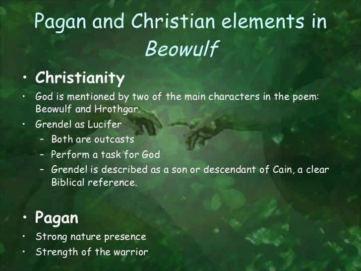 pagan and christian symbols in beowulf