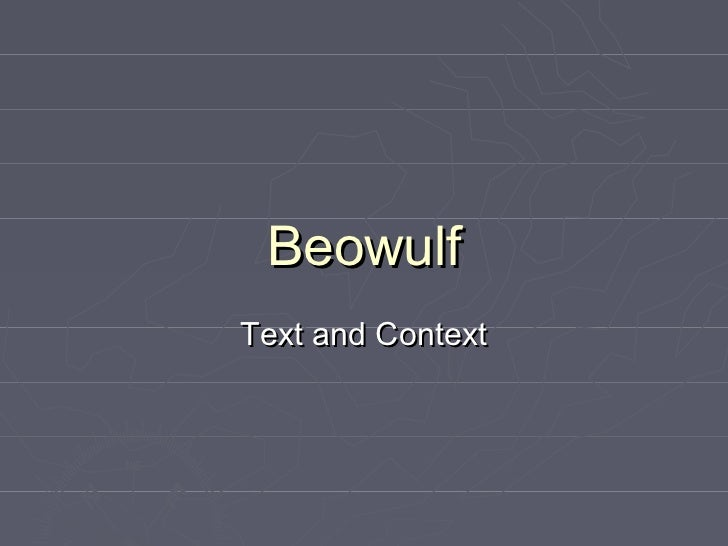 BeowulfText and Context