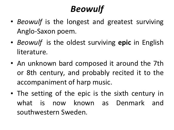 an analysis of the poem beowulf in english Beowulf film analysis - free download as word doc (doc / docx), pdf file (pdf), text file (txt) or read online for free a requirement for the subject world.