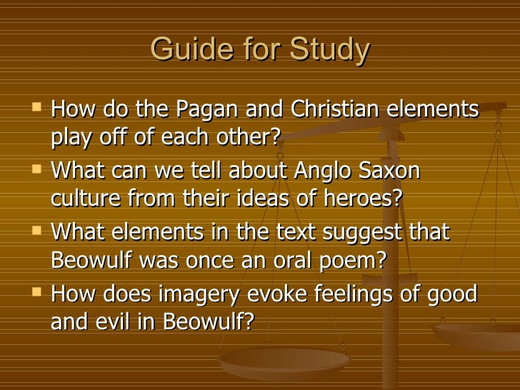 beowulf christianity vs paganism essay