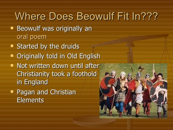"""christian elements in beowulf """"it is better for a man to avenge his friend than much mourn"""" (45) christian and pagan ideals are the motivation for vengeance in """"grendel's mother's attack."""