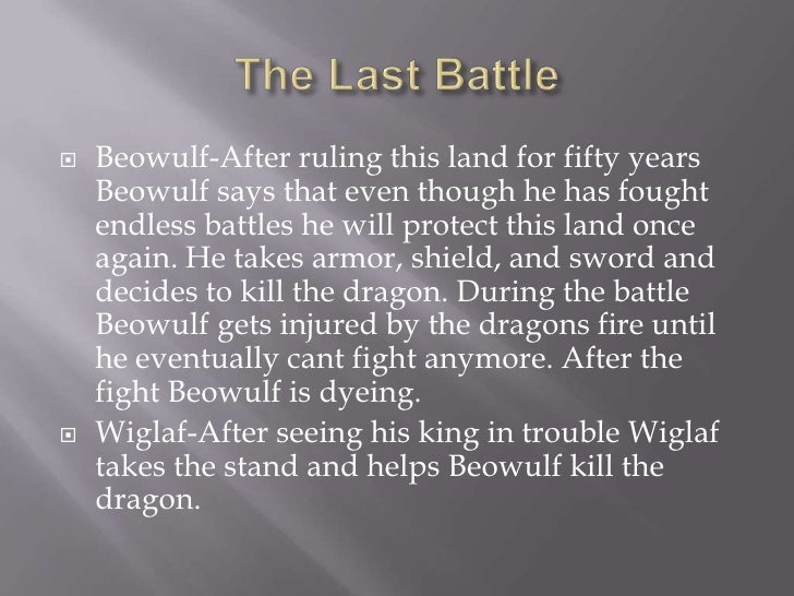 Summary of beowulf's last battle