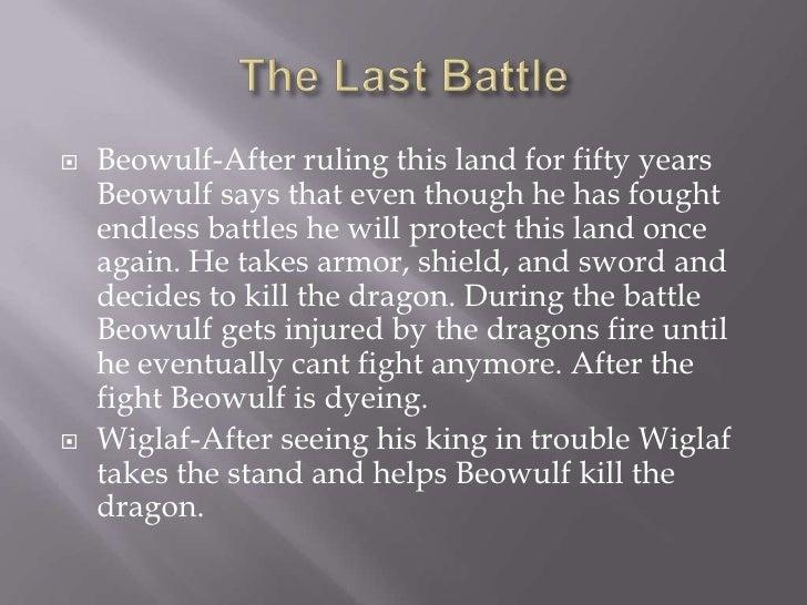 Beowulf's last battle summary