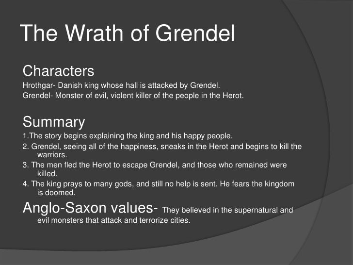character analysis grendel Fighting grendel in an unknown place to his self was one way beowulf showed his bravery  essays related to beowulf- character analysis 1.