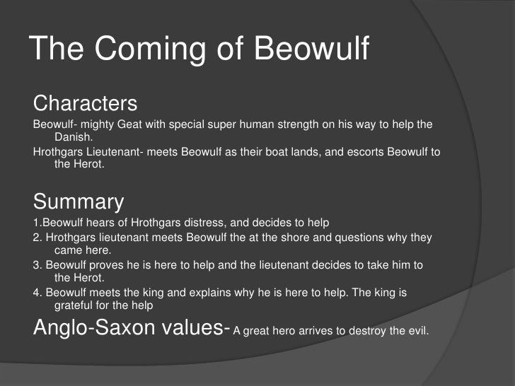 analyzing the story beowulf