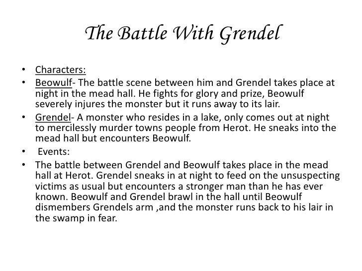 an analysis of dynamics between the characters of beowulf and grendel in beowulf Beowulf: grendel is pure beowulf - grendel one of the most compelling and highly developed characters in the novel grendel, written by team dynamics are the.