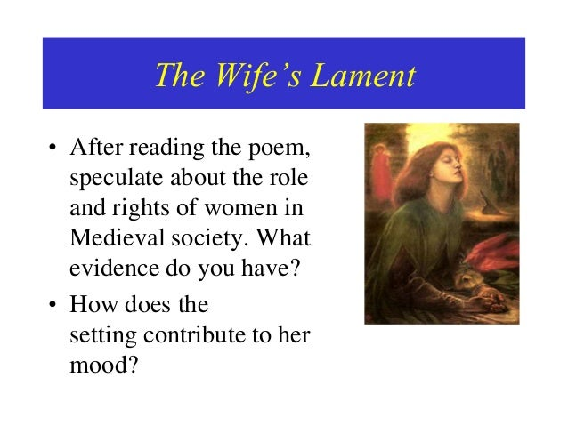 the wifes lament analysis