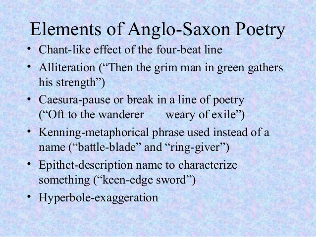 The description of the heroic man of the anglo saxon times in the epic poem beowulf