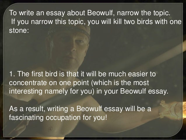 beowulf religion essay The topic of religion in beowulf is a fraught one christianity and paganism appear side by side in the poem the relationship of these apparently.