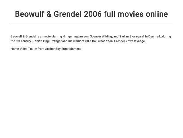 beowulf and grendel 2006 full movie
