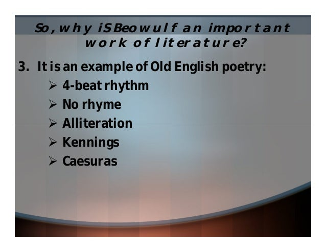 Beowulf Powerpoint 1