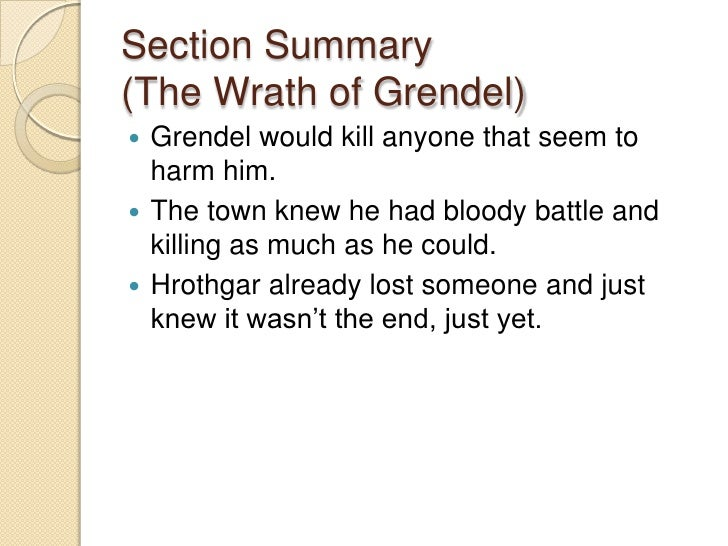 the wrath of grendel summary