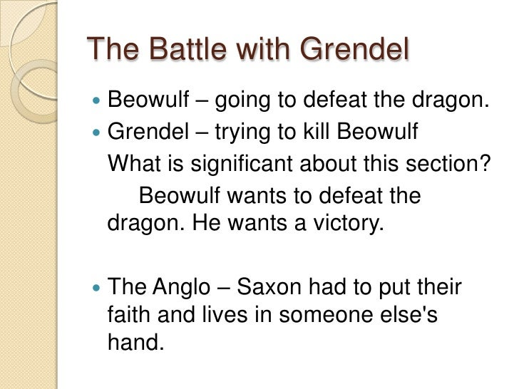 beowulf essays about grendel Grendel is the embodiment of all that is evil and dark he is a descendant of cain and like cain is an outcast of society he is doomed to roam in the.