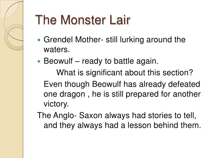 an introduction and an analysis of the monster grendel in beowulf Grendel's story grendel: introduction: - during the poem several monsters appear  beowulf and grendel:  the monster's whole.