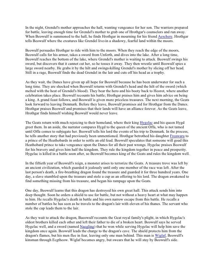 Mourning beowulf summary
