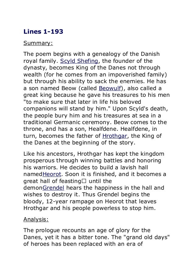 beowulf short summary