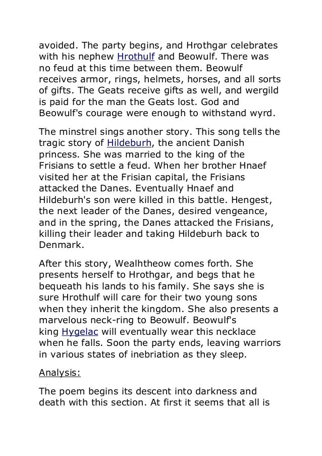 beouwlf summary Beowulf summary in the land of the danes (modern day denmark), a terrible  beast, grendel, plagued the kingdom of hrothgar and his people the danes  suffer.