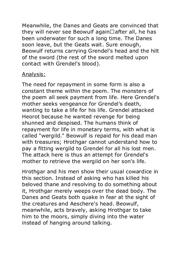 summary of beowulf Beowulf beowulf exemplifies the traits of the perfect hero the poem explores his heroism in two separate phases—youth and age—and through three separate and increasingly difficult.