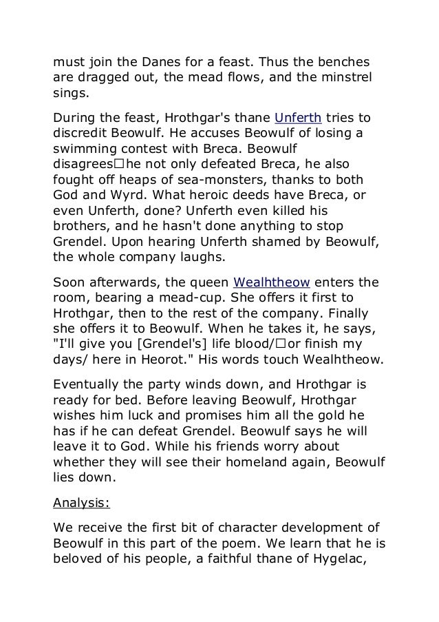 beowulf summary Free summary and analysis of the events in unknown's beowulf that won't make you snore we promise.