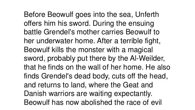 beowulf and grendel story summary