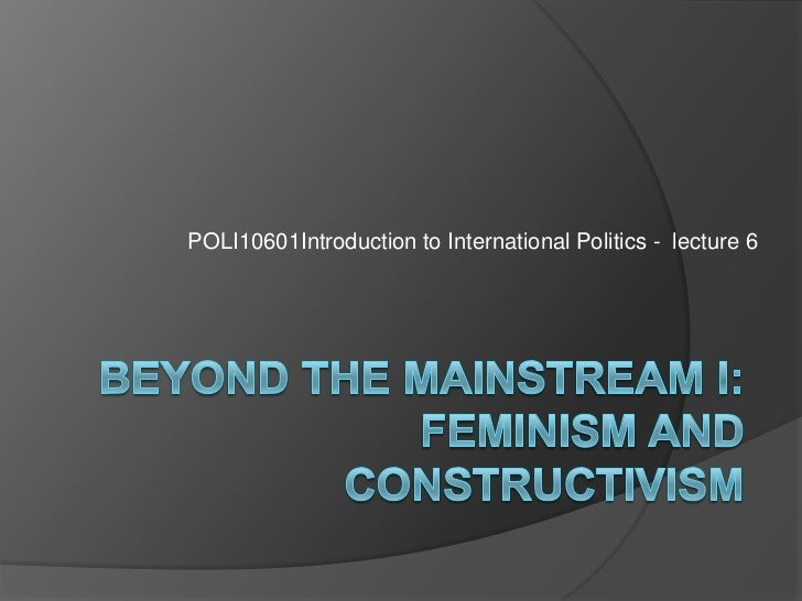 POLI10601Introduction to International Politics - lecture 6