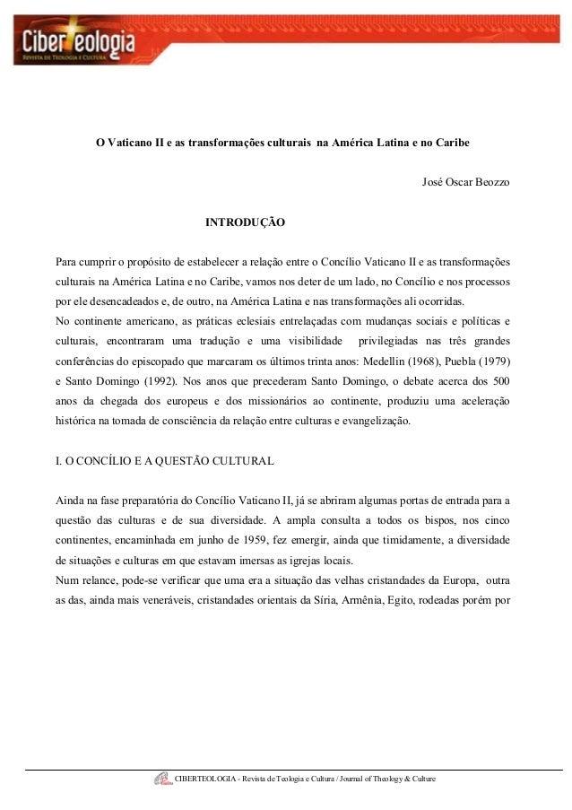 CIBERTEOLOGIA - Revista de Teologia e Cultura / Journal of Theology & CultureEdição nº 02 – Out/ Nov/ Dez 2005O Vaticano I...